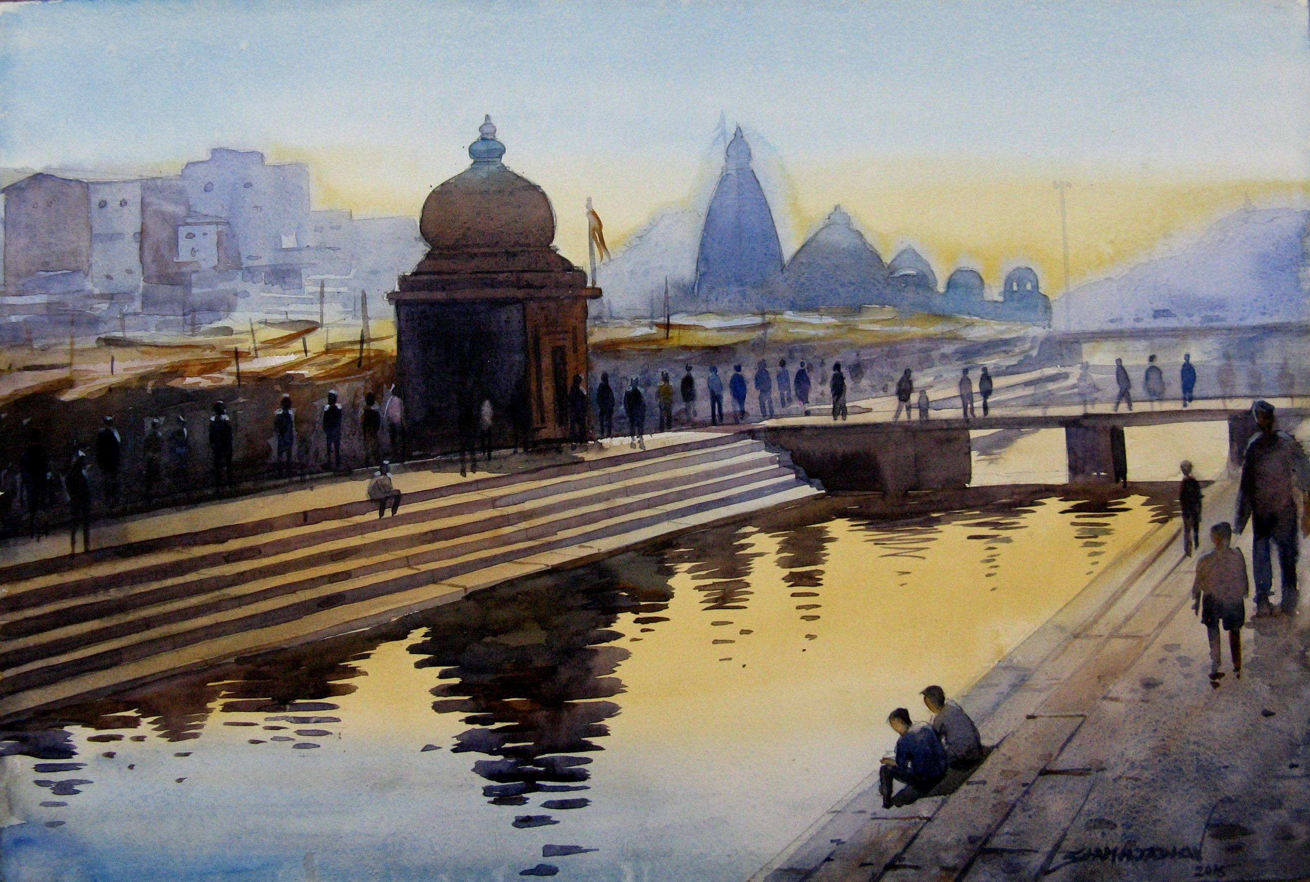 Painting Temple Ghat