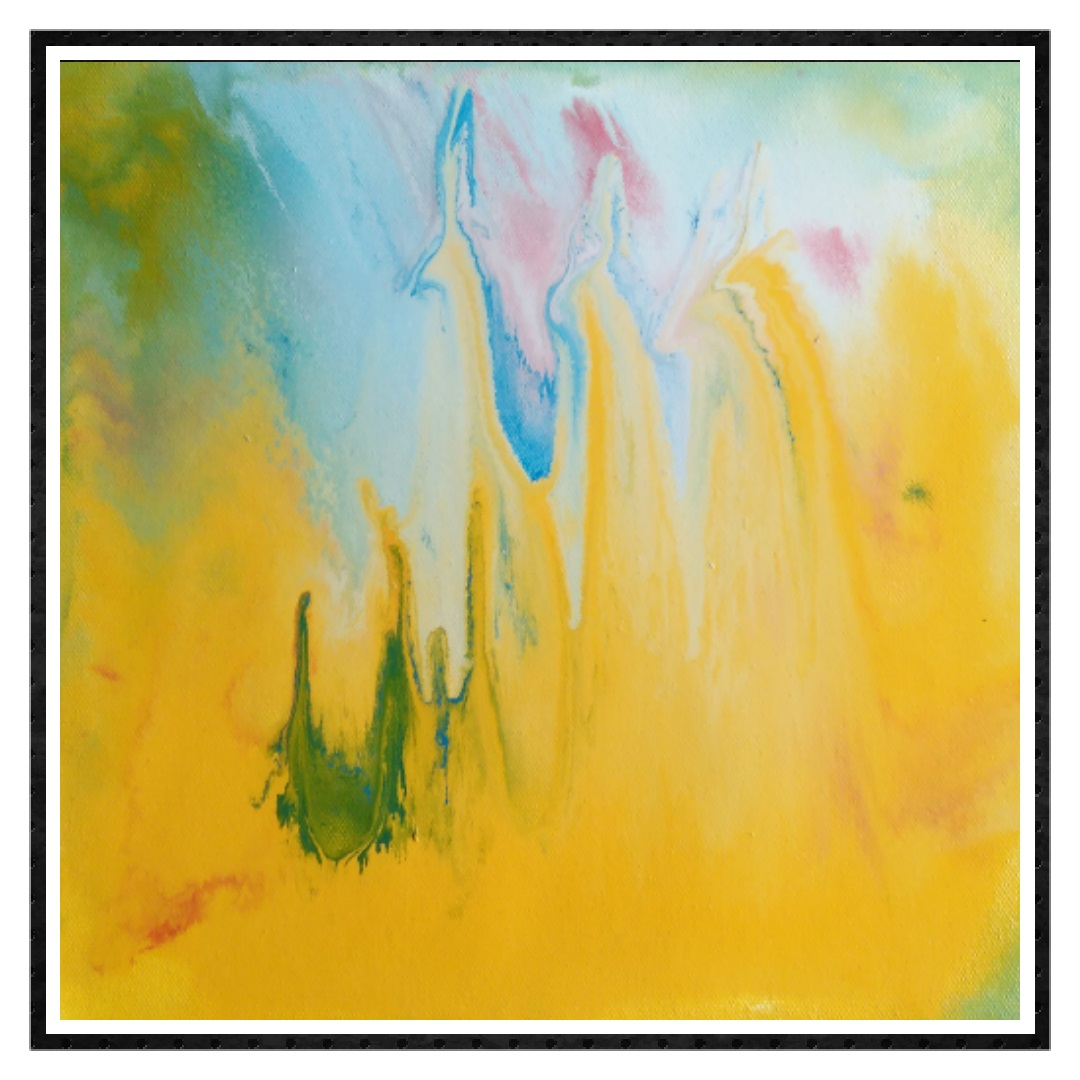 ABSTRACT PAINTINGS ONLINE 'YELLOW MAGIC'