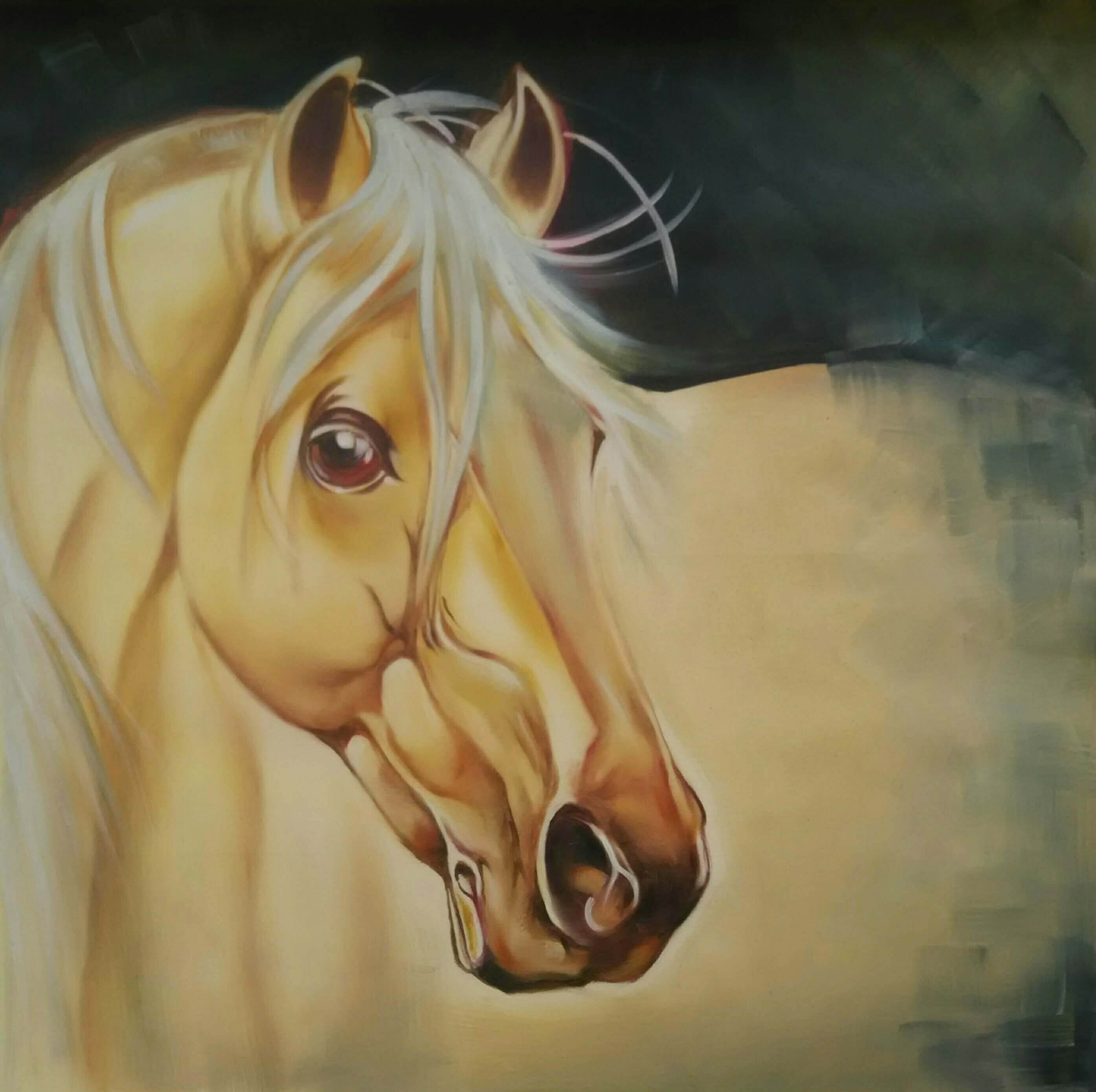CONTEMPORARY 'WHITE HORSE'