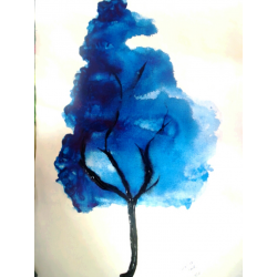 BUY ABSTRACT PAINTINGS ONLINE - 'A BLUE TREE'