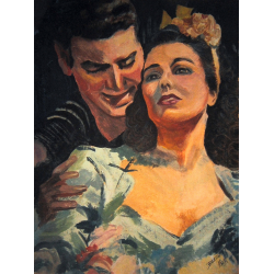 BUY FIGURATIVE PAINTINGS ONLINE - 'ROMANTIC COUPLE'