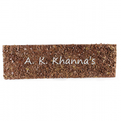 ARTTVINE NAMEPLATE 'BROWN STONES'