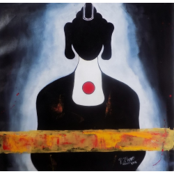 Figurative Paintings Online 'Buddha in Black'