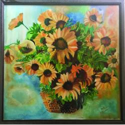 Still Life Painting Sunflowers
