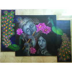 Painting 'Love of Radha Krishna'