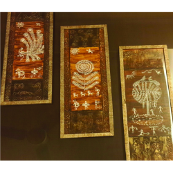 'WOOD FINISH' WARLI ART FRAMES