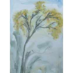 LANDSCAPE PAINTING 'YELLOW FLOWERS'