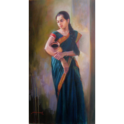 Painting Indian Girl