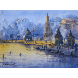 Paintings Online 'Temple Ghat 6''