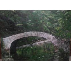 Buy Landscape Paintings Online 'Green Pond'