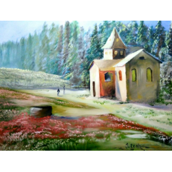 LANDSCAPE PAINTINGS 'HOUSE AND NATURE'