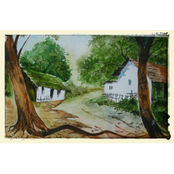 Landscape Paintings Online 'Beautiful Village''