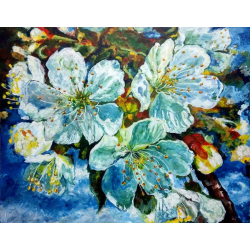 FLOWER PAINTING 'FIRST LOVE' ANTARA'S GALLERY