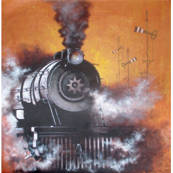 KISHORE BISWAS VINTAGE STEAM 'LOCOMOTIVE 27'