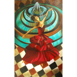 CONTEMPORARY PAINTING 'DANCING DOLL'