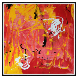 AMRAPALI SABALE ABSTRACT PAINTINGS ONLINE 'COLOR RIPPLES 2'