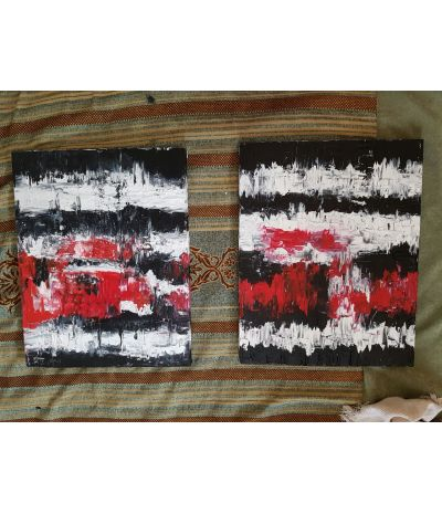 BUY ABSTRACT PAINTINGS ONLINE 'HEART BEAT'
